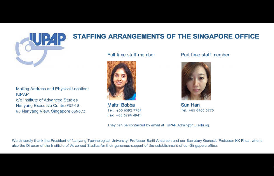 STAFFING ARRANGEMENTS OF THE SINGAPORE OFFICE