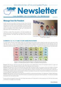 IUPAP Newsletter - June 2016