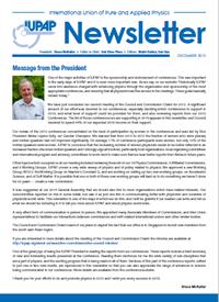 IUPAP Newsletter December 2015