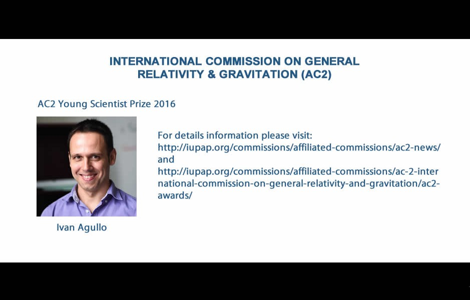 INTERNATIONAL COMMISSION ON GENERAL RELATIVITY & GRAVITATION (AC2)