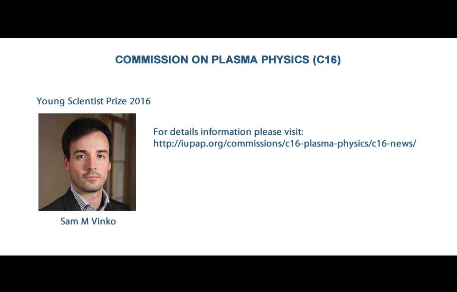 COMMISSION ON PLASMA PHYSICS (C16)
