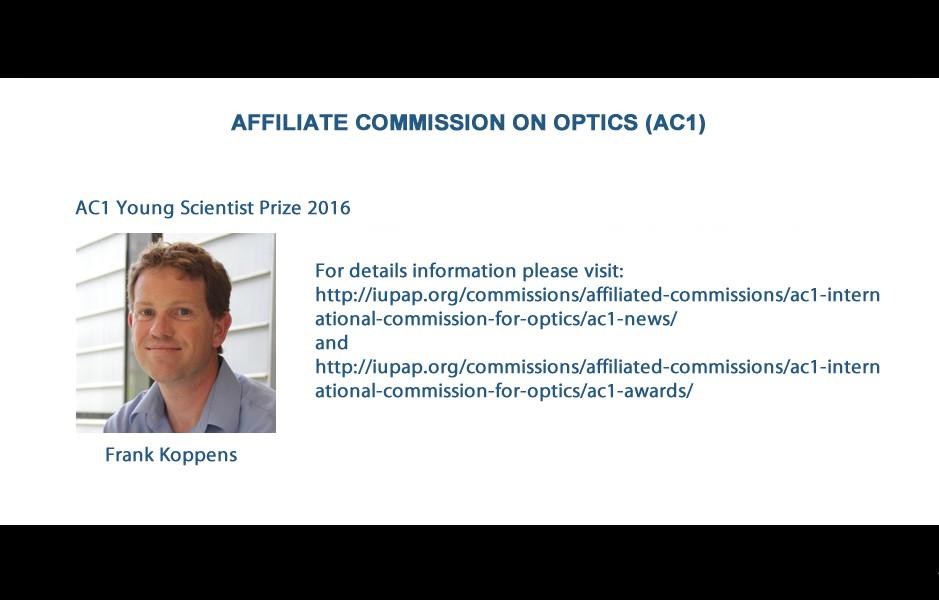 AFFILIATE COMMISSION ON OPTICS (AC1)