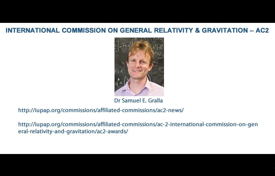INTERNATIONAL COMMISSION ON GENERAL RELATIVITY & GRAVITATION – AC2