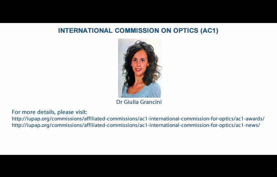 INTERNATIONAL COMMISSION ON OPTICS (AC1)
