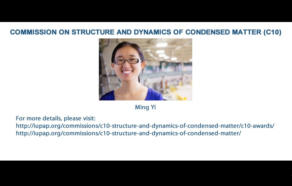 COMMISSION ON STRUCTURE AND DYNAMICS OF CONDENSED MATTER (C10)