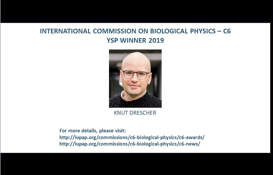 INTERNATIONAL COMMISSION ON BIOLOGICAL PHYSICS - C6 – YSP WINNER 2019
