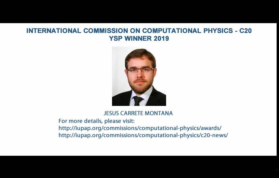 INTERNATIONAL COMMISSION ON COMPUTATIONAL PHYSICS - C20 – YSP WINNER 2019